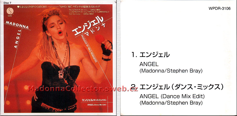 """MADONNA Angel - 1997 Japanese 3"""" CD single (Disc #7 from the 40 CD Single Collection) (WPDR-3106)"""