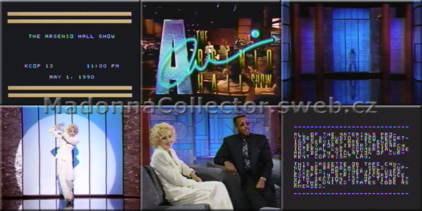 MADONNA Arsenio Hall Show 1990 - USA In-House Promo VHS