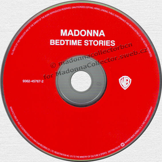 MADONNA Bedtime Stories - 1994 South Korean 11-trk CD Album (9362-45767-2)