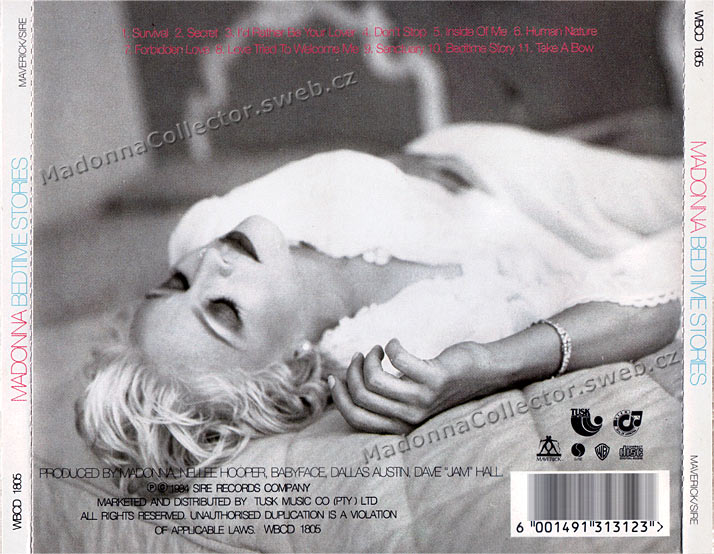MADONNA Bedtime Stories - 1994 South African CD Album (WBCD 1805)