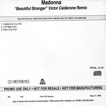 MADONNA Beautiful Stranger CD-Reference