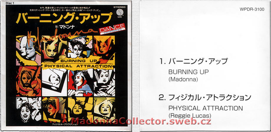 "MADONNA Burning Up - 1997 Japanese 3"" CD single (Disc #1 from the 40 CD Single Collection) (WPDR-3100)"