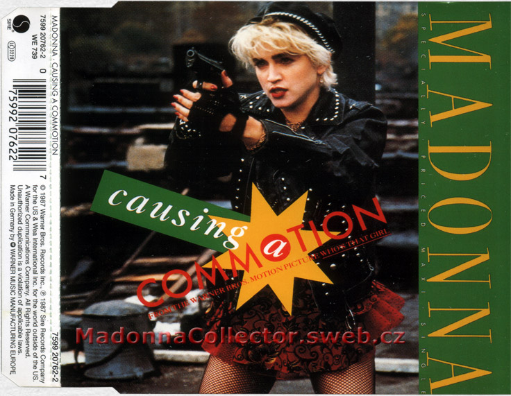 MADONNA - Causing A Commotion - 1995 German Yellow Label 4-trk CD Single (7599-20762-2)