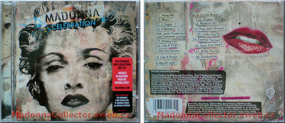 MADONNA Celebration - 2009 EU 18-track CD album (9362-49927-4)