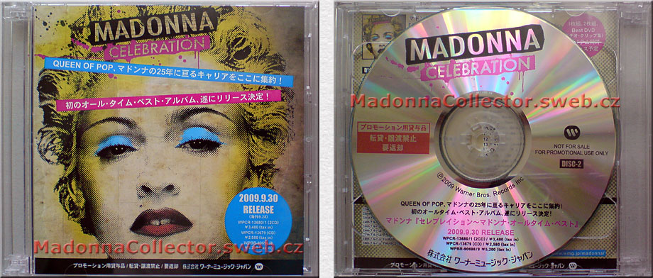 MADONNA Celebration - 2009 Japan 35-track Pre-Release 2-CDR Album Promo