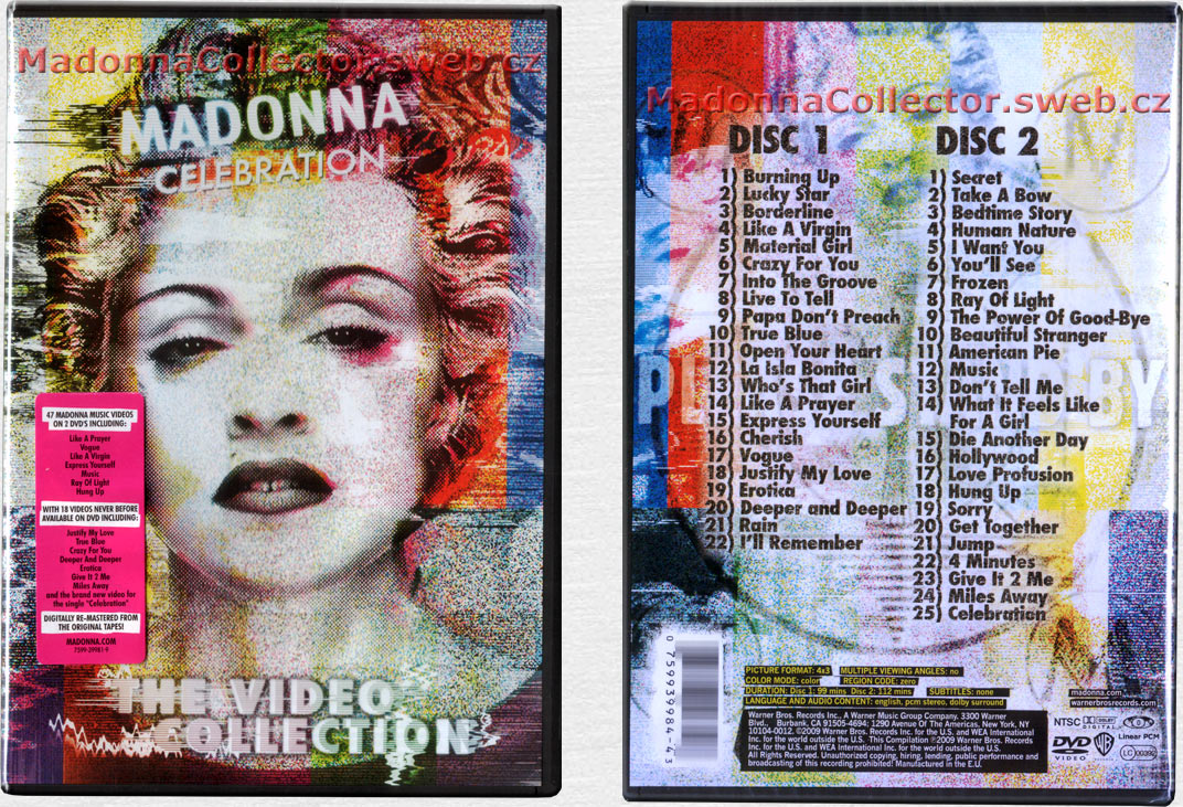 MADONNA Celebration - 2009 EU 47-track 2DVD amaray compilation (7599-39984-4)