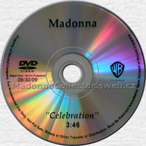 MADONNA Celebration - 2009 USA Promo DVD-Reference + picture insert (09/30/09)
