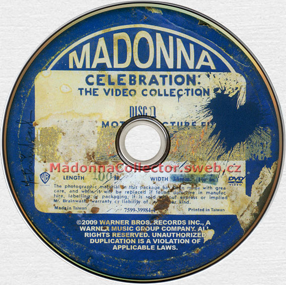 MADONNA Celebration - 2009 Taiwanese 47-track 2-DVD Box + Lyrics Booklet (7599-39984-4)