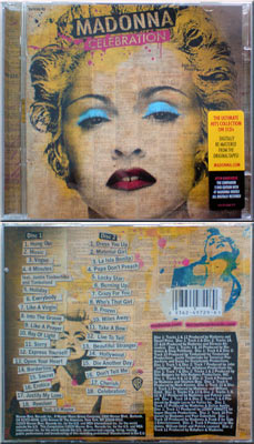 MADONNA Celebration - 2010 EU 36-track CD album - corrected issue (9362-49729-6)