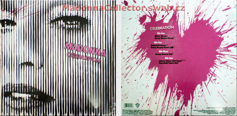 "MADONNA Celebration - 2009 US / Czech Republic 7-track 12"" Doublepack (521296-0 / 9362-49725-6)"