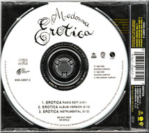 MADONNA Erotica - 1992 Australian 3-trk CD Single (9362-40657-2)