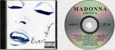 MADONNA Erotica - 1992 South African 14-trk CD Album (WBCD 1737)
