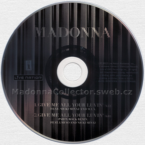 MADONNA & NICKI MINAJ & M.I.A. - Give Me All Your Luvin' - 2012 German 2-trk CD Single (0252-79745-6)