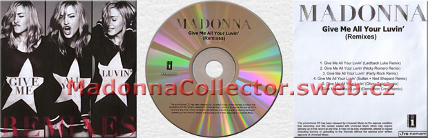 MADONNA - Give Me All Your Luvin' (Remixes) - 2012 UK 6-trk Promo CD-R