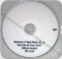 MADONNA & NICKI MINAJ & M.I.A. - Give Me All Your Luvin' - 2012 US Promo DVD-R