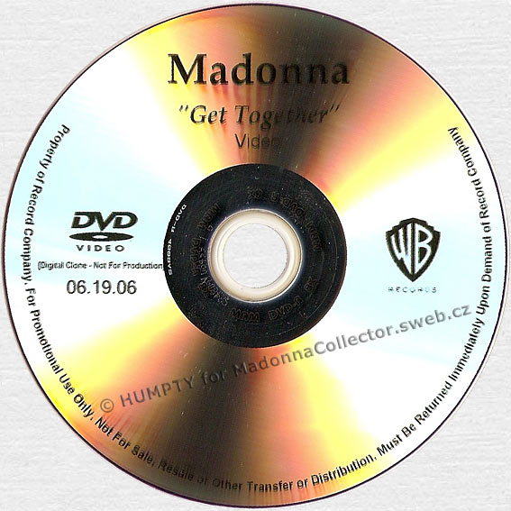 MADONNA Get Together - 2006 US Promo DVD