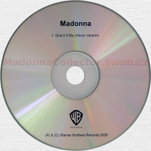 MADONNA Give It 2 Me - 2008 UK 1-trk Advance Promo CD-Reference