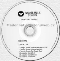 MADONNA Give It 2 Me - 2008 Danish 6-mix Promo CD-R