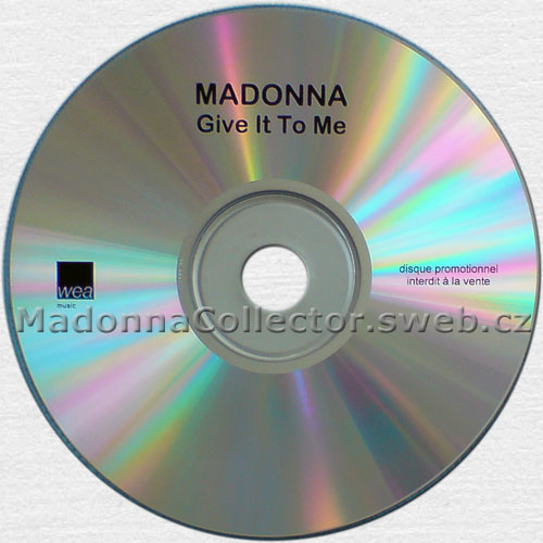 MADONNA Give It To Me - 2008 French 9-mix Promo CD-R