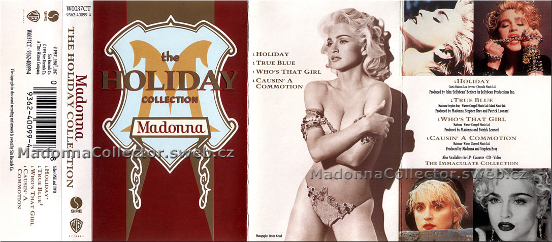 MADONNA The Holiday Collection - 1991 UK Cassette EP (W0037CT / 9362-40099-4)
