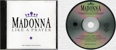MADONNA Like A Prayer - 1989 Japanese 11-trk Promo CD Album (PCS-19)