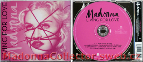 MADONNA - Living For Love - 2015 UK 4-trk CD Single