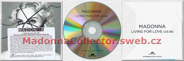 MADONNA - Living For Love - 2015 UK 1-trk Radio Promo CD-R