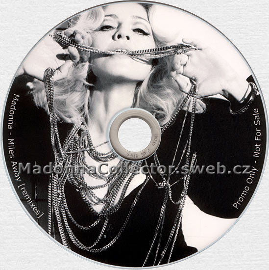 MADONNA Miles Away - 2008 Danish 8-mix Promo Picture CD-R