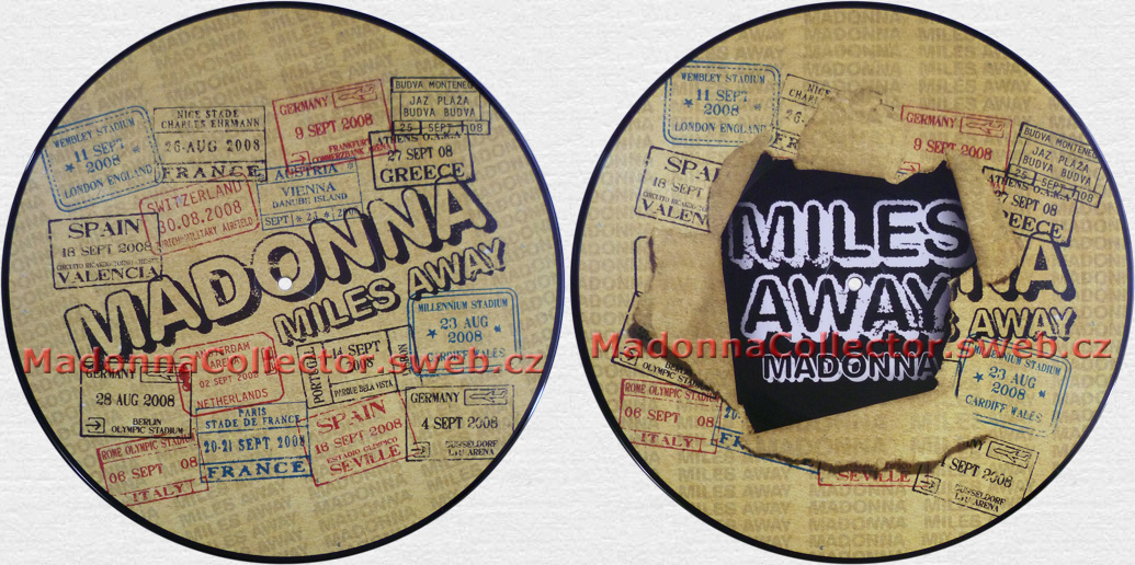 "MADONNA Miles Away - 2008 German 12"" Picture Disc (9362-49803-6)"
