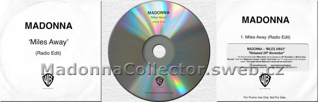 MADONNA Miles Away - 2008 UK 1-track Radio Promo CD-R