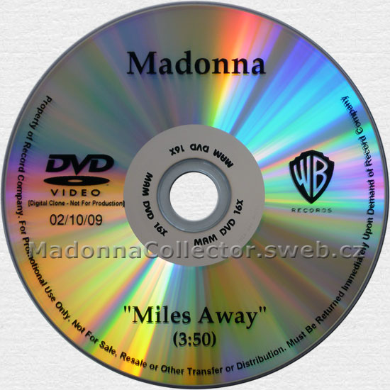 MADONNA Miles Away - 2009 USA 1-track Promo NTSC DVD-Reference (02/10/09)