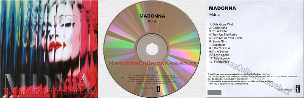 MADONNA - MDNA - 2012 UK Advance Promo Watermarked CD-R
