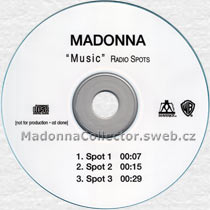 MADONNA Music Radio Spots - 2000 US 3-trk Radio Promo CD-Reference