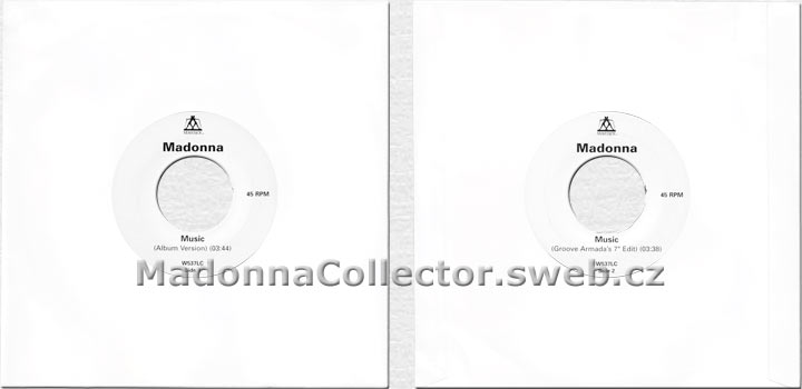 "MADONNA Music - UK 2000 Jukebox Promo 7"" (W537LC)"