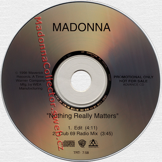 MADONNA Nothing Really Matters - 1998 US Advance Promo CD (A5721)