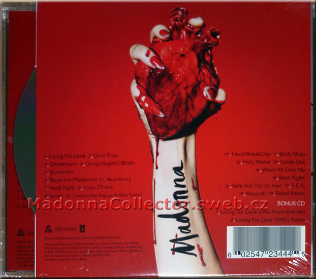MADONNA - Rebel Heart - 2015 French FNAC CD Album w/Exclusive Bonus CD (472 344-4)