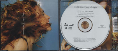 MADONNA Ray Of Light - 1998 South African 5-trk CD Single (WBSD 20 AD)