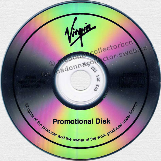 MADONNA Ray Of Light - 1998 UK Virgin Megastore Promo CD Album