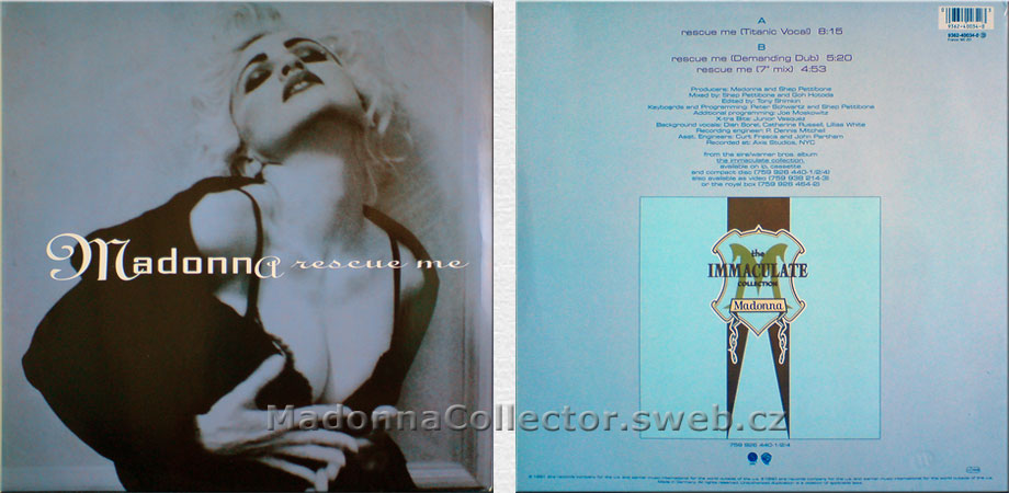 "MADONNA Rescue Me - 1991 German 12"" Remix (9362-40034-0)"