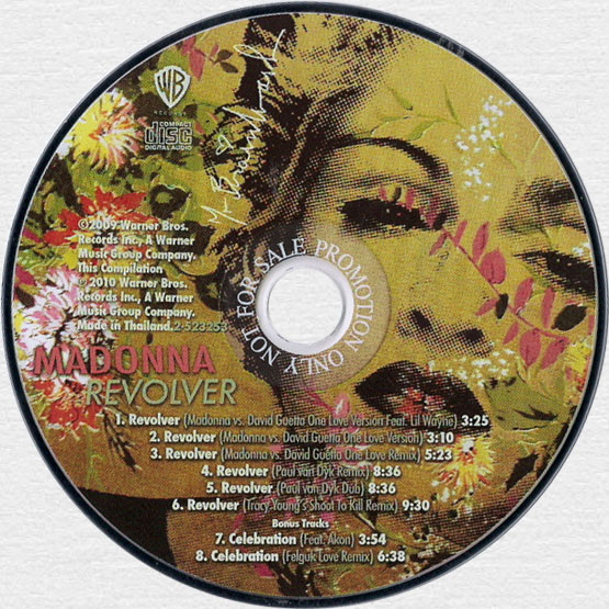 MADONNA - Revolver Remixes - 2010 Thai 8-track Promo CD Single (2-523253 / 9362-49685-9)