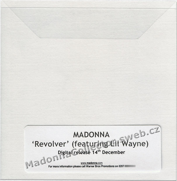 MADONNA - Revolver (featuring Lil' Wayne) - 2009 UK 1-track Promo-Only CD-Reference