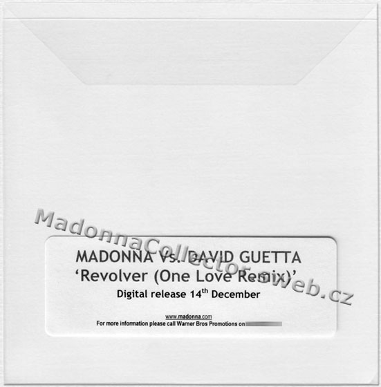 MADONNA vs. David Guetta - Revolver (One Love Remix) - 2009 UK 2-track Promo-Only CD-Reference