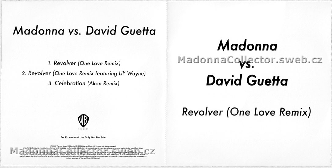 MADONNA vs. David Guetta - Revolver (One Love Remix) - 2009 UK 3-track Promo-Only CD-Reference