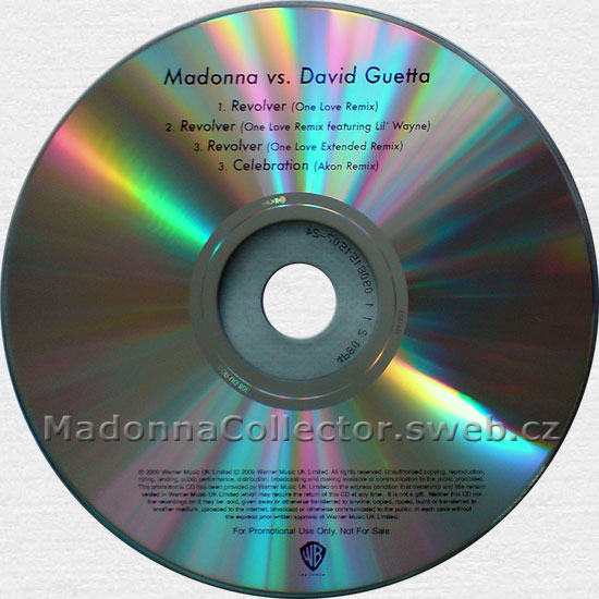 MADONNA vs. David Guetta - Revolver (One Love Remix) - 2009 UK 4-track Promo-Only CD-Reference
