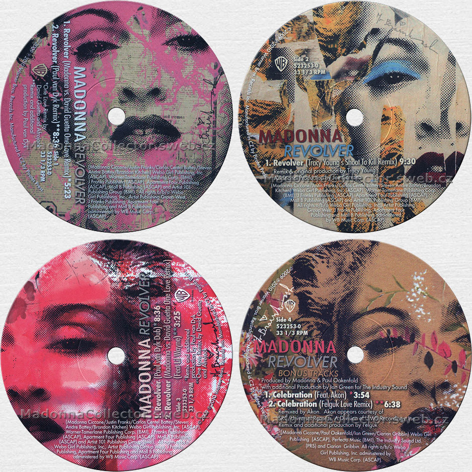 "MADONNA Revolver - 2010 US / Czech Republic 7-track 12"" Doublepack (523253-0 / 9362-49685-8)"