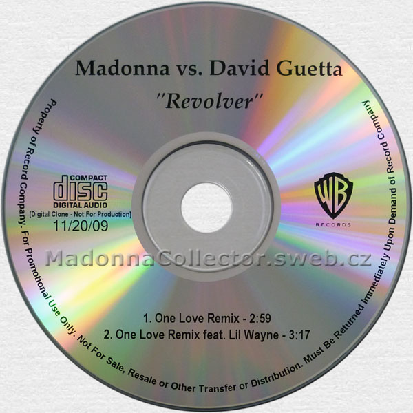 MADONNA Revolver (vs. David Guetta) - 2009 US 2-track Advance Promo CD-Reference (11/20/09)