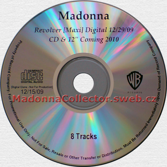 MADONNA - Revolver Remixes - 2009 USA 8-track CD-Reference (12/15/09)