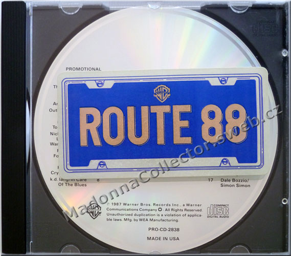 MADONNA Where's The Party on Route 88 - 1987 US 17-track Promo CD (PRO-CD-2838)