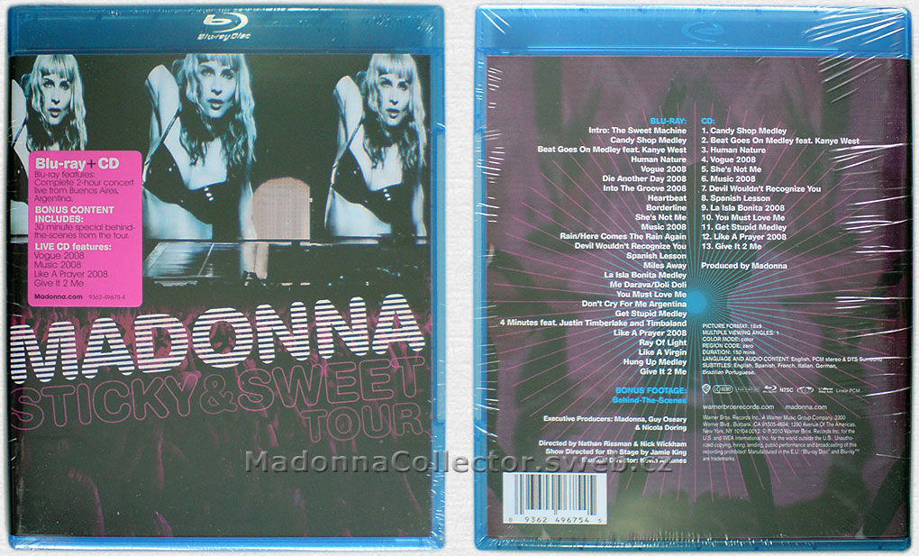 MADONNA Sticky & Sweet Tour - 2010 E.U. Blu-ray + CD Doublepack (9362-49675-4)