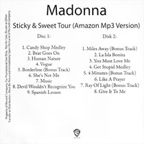MADONNA Sticky & Sweet Tour (Amazon Mp3 Version) - 2010 US Promo 2 x CD-Reference (03/11/10)